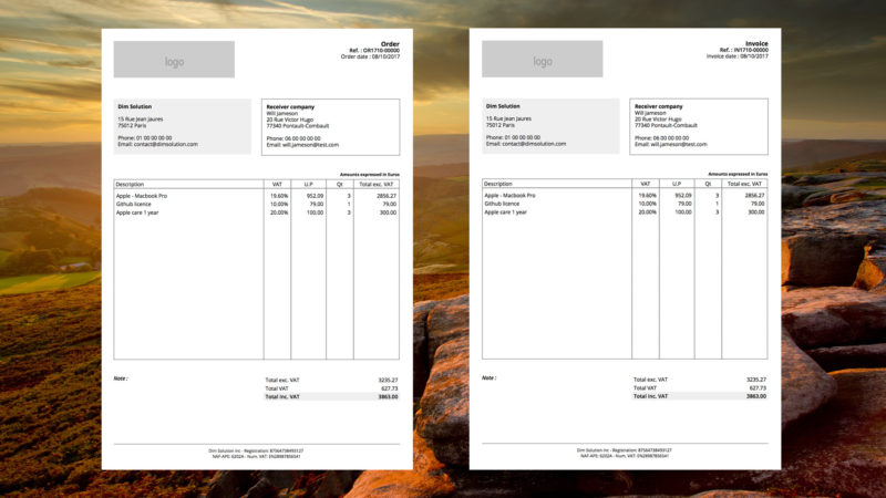 Invoice PDF generator