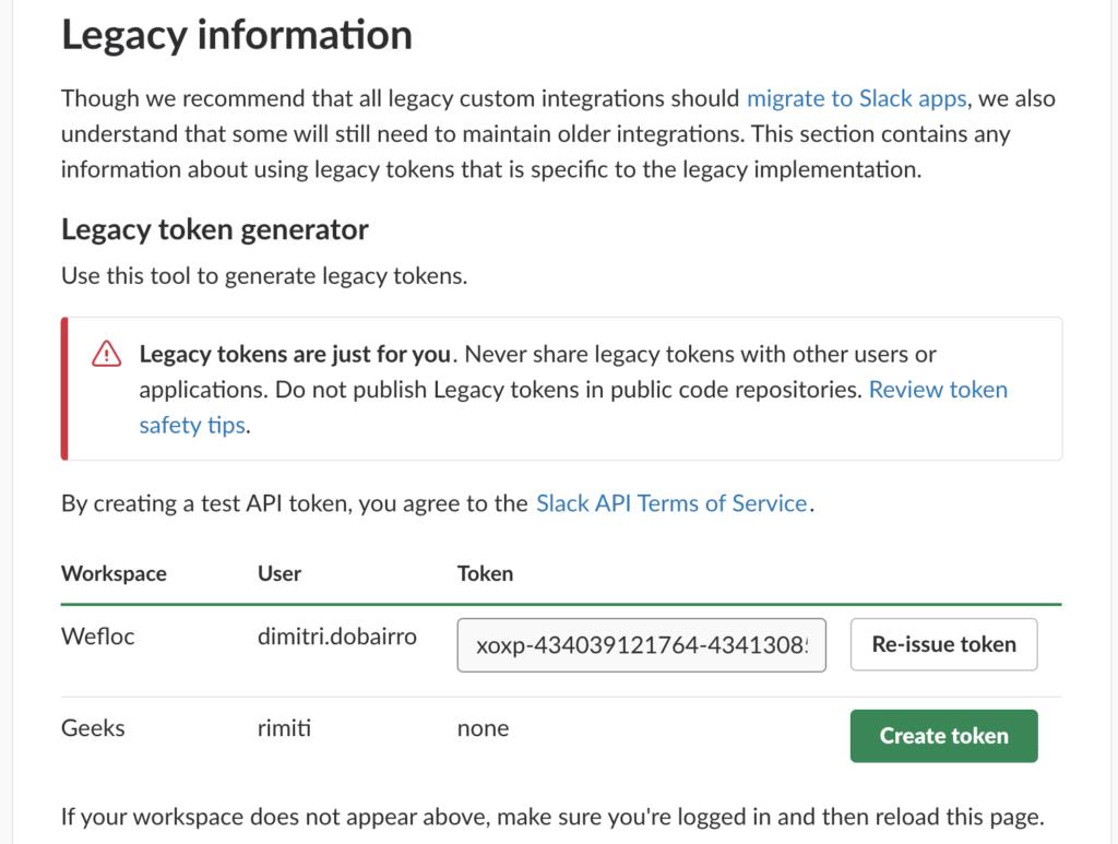 slack-legacy-token