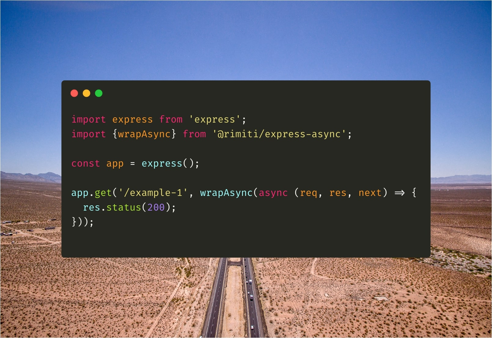How to use async/await functions with Express ?